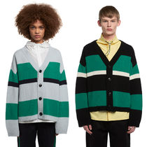 TRUNK PROJECT Stripes Unisex Wool Street Style Oversized Cardigans