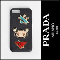 PRADA Unisex Street Style Leather Smart Phone Cases