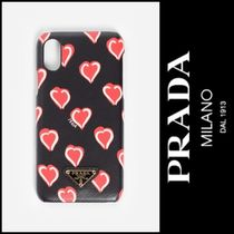 PRADA Heart Street Style Smart Phone Cases