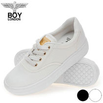 BOY LONDON Casual Style Collaboration Plain Low-Top Sneakers