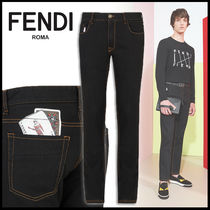 FENDI Denim Street Style Plain Skinny Fit Jeans & Denim