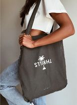 THRILLS CO Casual Style Unisex Canvas Street Style A4 Plain Totes