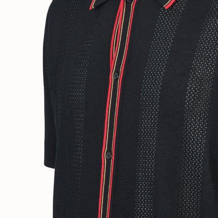 FENDI Knits & Sweaters Pullovers Stripes Plain Short Sleeves Knits & Sweaters 5