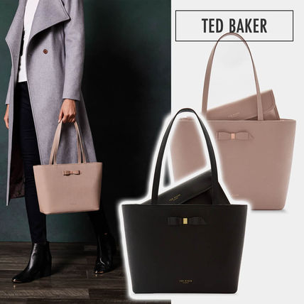 34182a231 TED BAKER 2019 SS Bag in Bag Plain Leather Elegant Style Totes by ...