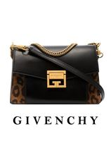 GIVENCHY GV3 Leopard Patterns Blended Fabrics 2WAY Leather Party Style