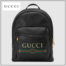 GUCCI Other Animal Patterns Leather Backpacks