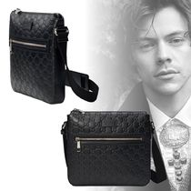 GUCCI Unisex Street Style Leather Messenger & Shoulder Bags