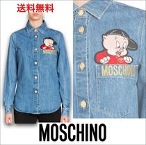 Moschino Casual Style Unisex Denim Collaboration Long Sleeves