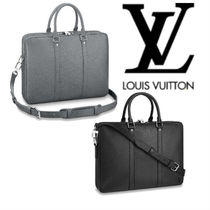 Louis Vuitton Unisex 2WAY Plain Leather Business & Briefcases