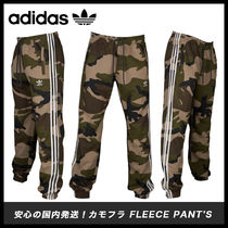 adidas Printed Pants Camouflage Street Style Cotton Bottoms
