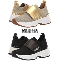 Michael Kors Platform Plain Toe Casual Style Plain PVC Clothing
