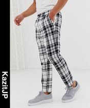 ASOS Printed Pants Other Check Patterns Patterned Pants