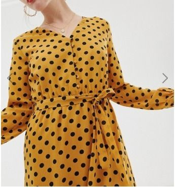 Dots Casual Style Maxi V-Neck Long Sleeves Long Dresses