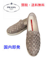 PRADA Casual Style Suede Street Style Low-Top Sneakers