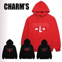 Charm's Unisex Collaboration Long Sleeves Plain Cotton Hoodies
