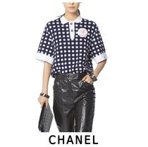 CHANEL Other Check Patterns Casual Style Cotton Medium