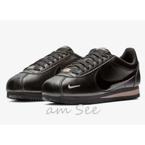 Nike CORTEZ Round Toe Rubber Sole Casual Style Street Style Plain