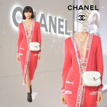 CHANEL Cashmere Long Sleeves Long Cashmere