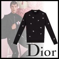 DIOR HOMME Crew Neck Street Style Long Sleeves Cotton Sweatshirts eb434c9cadf