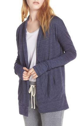 Casual Style Blended Fabrics Plain Cardigans