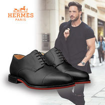 HERMES Leather Oxfords
