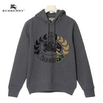 Burberry Long Sleeves Cotton Hoodies