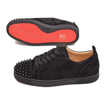 Christian Louboutin Louis 2019 Ss Studded Plain Leather Sneakers 1130575cm53