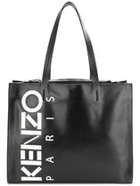 KENZO Unisex Street Style A4 Leather Totes
