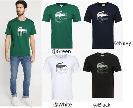 284bf8a8 ... LACOSTE Crew Neck Crew Neck Cotton Short Sleeves Crew Neck T-Shirts ...