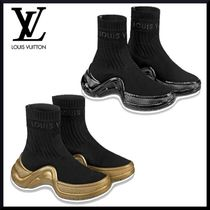 Louis Vuitton Round Toe Casual Style Low-Top Sneakers