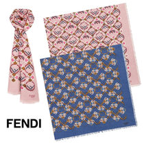 FENDI Casual Style Cashmere Blended Fabrics Accessories