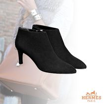 HERMES Suede Ankle & Booties Boots