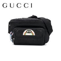 GUCCI 2WAY Plain Leather Backpacks