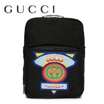 GUCCI Nylon Street Style 2WAY Plain Backpacks