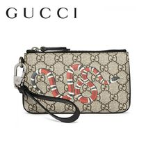 GUCCI Monogram Leather Clutches