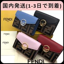 FENDI Plain Folding Wallets