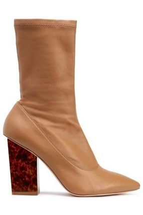 Leather Block Heels Ankle & Booties Boots
