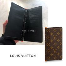 Louis Vuitton MONOGRAM Monogram Leather Folding Wallet Long Wallets