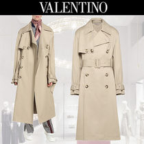 VALENTINO Plain Long Oversized Trench Coats