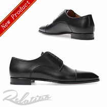 Christian Louboutin Plain Toe Plain Leather Oxfords