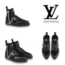 Louis Vuitton Suede Chain Plain U Tips Boots