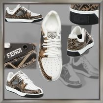FENDI Blended Fabrics Street Style Leather Sneakers
