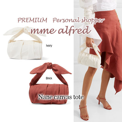 Casual Style Canvas Plain Bags