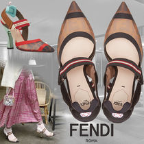 FENDI Monogram High Heel Pumps & Mules