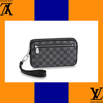 Louis Vuitton Other Check Patterns Canvas Bag in Bag Handmade Clutches