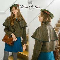 Miss Patina Other Check Patterns Casual Style Medium Jackets