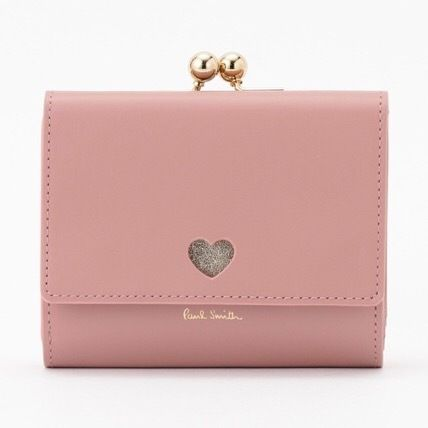 Heart Leather Folding Wallet Logo Folding Wallets