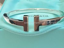 Tiffany & Co Tiffany T Bangles Casual Style Unisex Party Style Silver Office Style