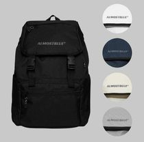 Almost Blue Casual Style Unisex Street Style Plain Backpacks