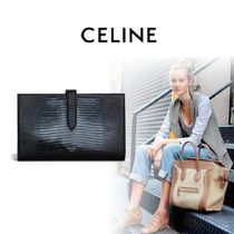 CELINE Strap Unisex Plain Folding Wallets
